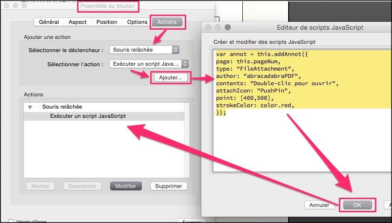 Importer programmatiquement une pièce jointe dans un PDF