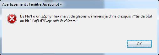PDF, JavaScript et Unicode