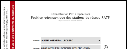 Open Data et PDF