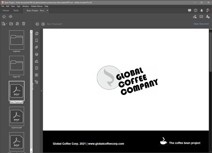 Porte-document PDF : Bean project