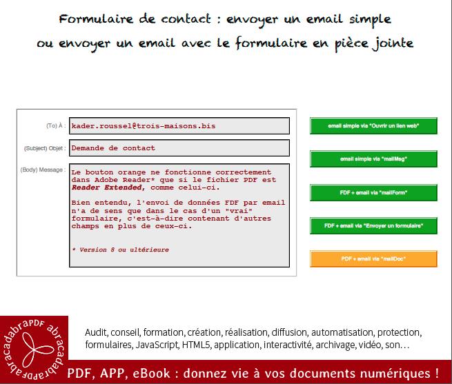 Envoyer un email prérempli avec le formulaire en pièce jointe