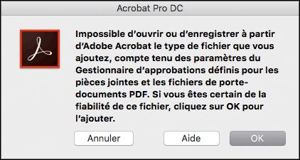Incorporation d'un fichier ZIP dans un document PDF. Capture 1