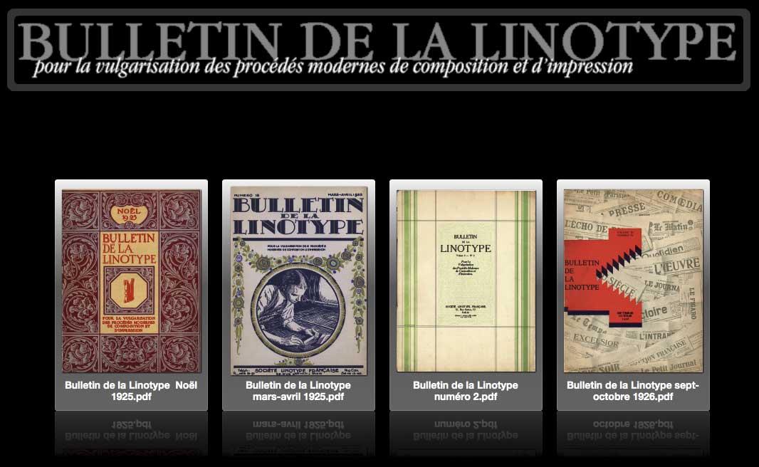 Les bulletins de la Linotype