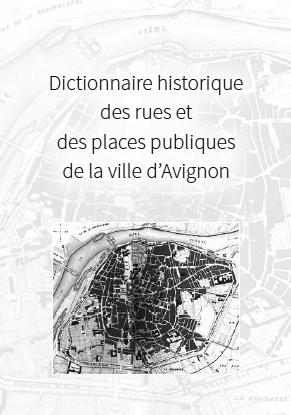 Dictionnaire des rues d'Avignon couverture