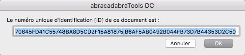 Permanent identifier [ID] du format PDF