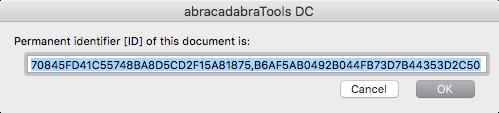 Permanent identifier [ID] of PDF format