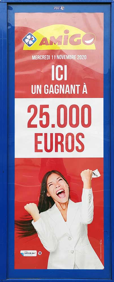 Publicité de la Française des jeux pour Amigo