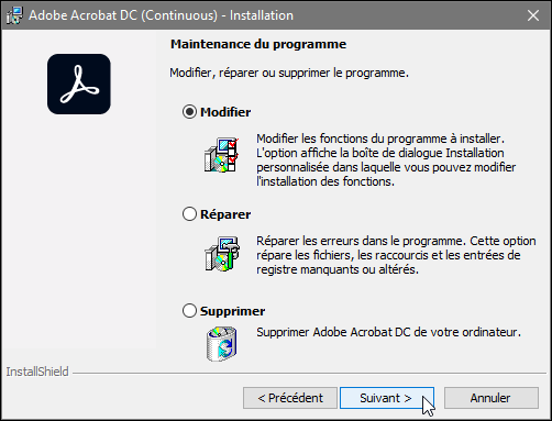 Changer la langue d'Acrobat Pro pour Windows, capture 2