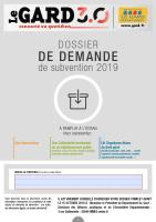 Dossier de demande de subvention réalisé pour le département du Gard